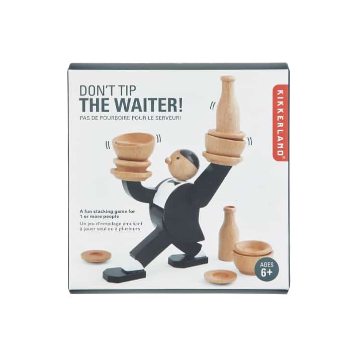 Don't Tip the Waiter Stacking Game