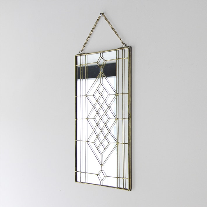 "Geometry Wall Hanging Mirror ""02-L"""