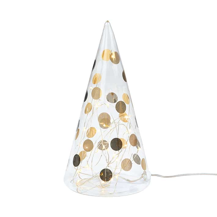 LED Glass fir tree dots bicolor large