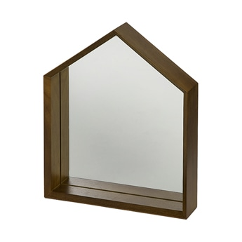 Maison mirror brown wood
