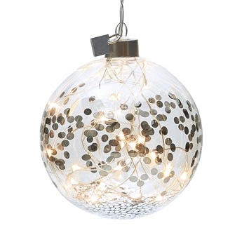 Lightning Bauble silver