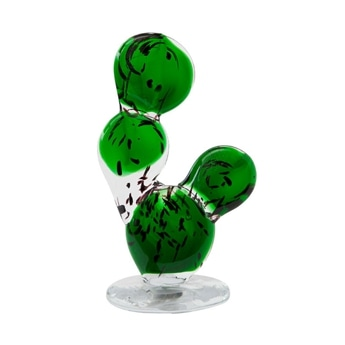CACTUS GLASS ORNAMENT Round Fan M